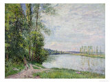 The Riverside Road from Veneux to Thomery, 1880 Giclee Print by Alfred Sisley