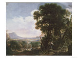 Erminia Carves the Name of Tancred on a Tree Giclee Print by Salvator Rosa