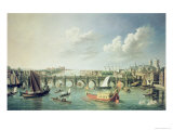 The Thames Below Westminster Bridge Giclee Print by William James
