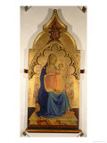 Madonna and Child, Central Panel from the Madonna and Child with Holy Trinity Tabernacle, c.1430 Giclee Print by  Fra Angelico