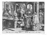 The Invention of Iron Mechanical Clocks, Plate 6 from Nova Reperta Giclee Print by Jan van der Straet