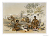 Zulu Blacksmiths at Work, Plate 23 from The Kafirs Illustrated, 1849 Giclee Print by George French Angas