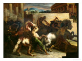 The Wild Horse Race at Rome, c.1817 Giclee Print by Théodore Géricault