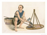 Fishmonger, Plate 39 from The Costumes of China, Engraved by J. Dadley, 1800 Giclee Print by Major George Henry Mason