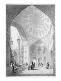 Main Entrance of the Medrese-I-Shah-Hussein, Isfahan, Modern Monuments of Persia Giclee Print by Pascal Xavier Coste