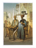 The Tea Seller, from Souvenir of Cairo, 1862 Giclee Print by Amadeo Preziosi