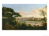 View of Florence from the Cascine Giclee Print by Vanvitelli (Gaspar van Wittel)