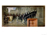 The Reception of Louis XVI at the Hotel de Ville by the Parisian Municipality in 1789, 1891 Giclee Print by Jean Paul Laurens