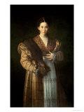 Portrait of Antea La Bella, 1535-37 Gicleetryck av Parmigianino,