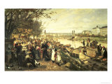 Fruit Market in Schazel, Near the Maria Theresa Bridge, Vienna, 1895 Giclee Print by Alois Schonn