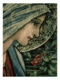 The Virgin's Face, Detail from the Adoration of the Magi, William Morris and Co. Merton Abbey Giclee Print by Burne-Jones & Morris