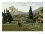 The Gardens of the Villa D'Este, Tivoli, 1843 Giclee Print by Jean-Baptiste-Camille Corot
