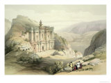 El Deir, Petra, March 8th 1839, Plate 90 from Volume III The Holy Land, Engraved by Louis Haghe Giclee Print by David Roberts