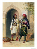 Arnaout and Osmanli Soldiers, Alexandria, the Valley of the Nile, c.1848 Reproduction proc&#233;d&#233; gicl&#233;e par Achille-Constant-Th&#233;odore-&#201;mile Prisse d&#39;Avennes