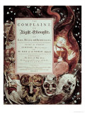 Title Page, Night IV, from Young's Night Thoughts Giclee Print by William Blake