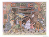 The Pet Shop, from 'The Book of Shops', 1899 Giclee Print by Francis Donkin Bedford