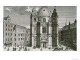 View of the Peterskirche, Vienna Engraved by Johann Bernard Hattinger Giclee Print by Salomon Kleiner