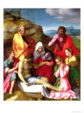 Lamentation over the Dead Christ, 1524 Giclee Print by Andrea del Sarto 