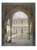 The Court of the Alberca in the Alhambra, Granada, 1853 Reproduction procédé giclée par Leon Auguste Asselineau