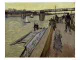 Le Pont de Trinquetaille in Arles, 1888 Giclee Print by Vincent van Gogh