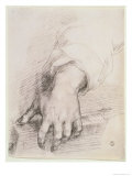 Study of a Hand For the Madonna of the Harp Giclée-tryk af Andrea del Sarto