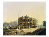 Ancient Temple at Hulwud, Witherington, Engraved G. Hunt, Coloured Hogarth, Pub. Ackermann, 1826 Giclee Print by Captain Robert M. Grindlay