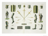 Separate Pieces of a Knight's Armour, Plate 18 The History of the Nations', Engraved by G. Lago Giclee Print