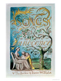 Songs of Innocence, Title Page, 1789 Giclée-Druck von William Blake