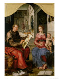 St. Luke Painting the Virgin, c.1545 Giclee Print by Maerten van Heemskerck