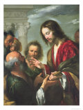 The Delivery of the Keys to St. Peter Lámina giclée por Bernardo Strozzi