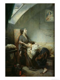 The Poverty-Stricken Family, or the Suicide, 1849 Giclee Print by Octave Tassaert