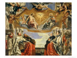 The Gonzaga Family in Adoration of the Holy Trinity Giclee Print by Peter Paul Rubens