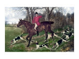 Horse Fox Hunt I Posters by Timothy Blossom