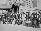 New Immigrants on Ellis Island, New York, 1910 Photographic Print