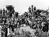 Union Pacific and the Central Pacific Railways at Promontory Point, Omaha, 10th May 1869 Lámina fotográfica