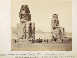 The Colossi of Memnon, Statues of Amenhotep III, XVIII Dynasty, c.1375-1358 BC Photographic Print by Francis Bedford