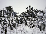 The Golden Spike Ceremony, 10th May 1869 Photographic Print by Charles Roscoe Savage
