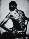 The Scarred Back of a Male Slave, c.1855 Reproduction photographique