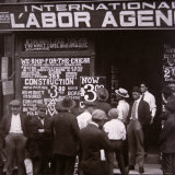 Immigrants Looking For Work in New York City, c.1910 Photographic Print