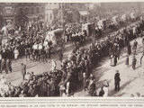 Military Funeral, Paris Victims of Zeppelins, Artillery Service-Wagons Photographic Print