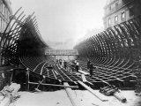 Paris Metro at Place Saint-Michel: Caisson Prior to Its Being Placed in the River Seine, c.1906 Photographic Print