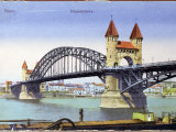 Postcard Depicting the Bridge over the River Rhine at Bonn, Photographic Print