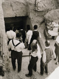 Party Going Down the Steps to the Tomb of Tutankhamun, Valley of the Kings, 1923 Photographic Print by Harry Burton