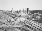 Ruins of Hood&#39;s 28-Car Ammunition Train and Scofield Rolling Mill, Atlanta, Georgia, September 1864 Photographic Print by G.n. Barnard