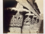 The Capitals of the Portico, Temple of Khnum, Esna, 1862 Photographic Print by Francis Bedford
