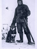 Meares with Osman, Leader of the Dogs, from 'Scott's Last Expedition Photographic Print by Herbert Ponting