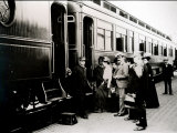 Passengers Boarding First Class Pullman Car of the Chicago, Burlington and Quincy Railroad, c.1910 Lámina fotográfica