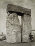 Shepherd Posing at Stonehenge on Salisbury Plain Photographic Print
