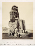 The Vocal Memnon, Colossal Statue of Amenhotep III, XVIII Dynasty, c.1375-1358 BC Photographic Print by Francis Bedford