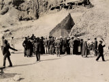 Crowd of Interested Spectators Waiting Outside the Tomb of Tutankhamun, Valley of the Kings Photographic Print by Harry Burton